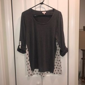 Pixley dido mixed print knit top NWOT